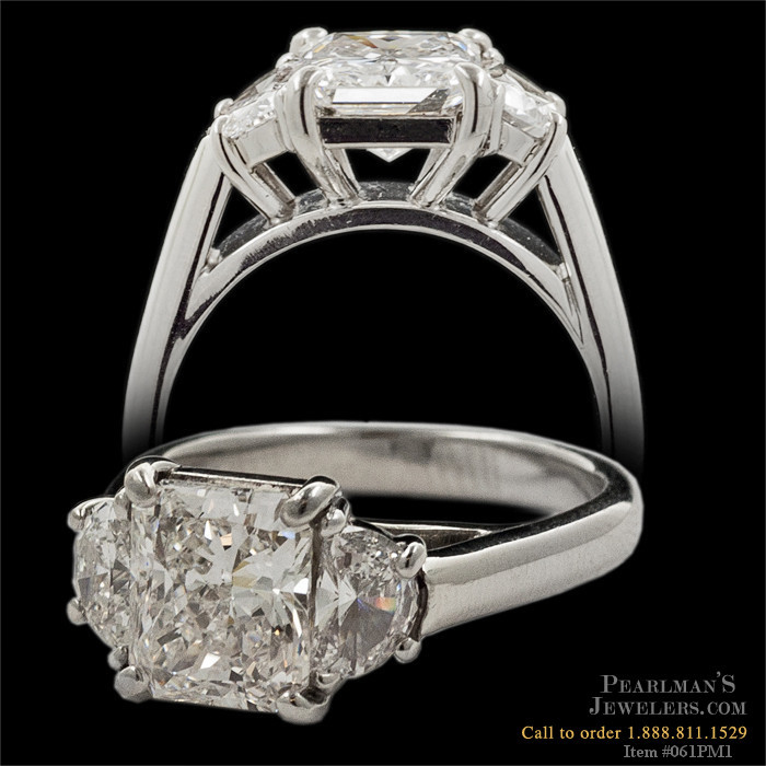 A very fine hand made platinum 3 stone diamond ring the r for What is platinum jewelry made of