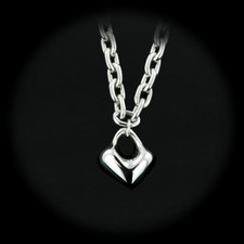 Sterling Silver Heart pendant with 16 inch Necklace by Robert Lee Morris.