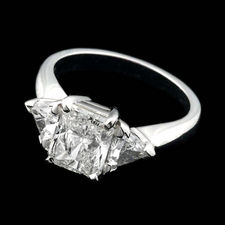 Beautiful and classic Alexander Primak platinum and diamond engagement ring with 2.37ctw total in full cut diamonds. Side and center stone included.