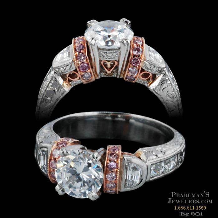 Michael Beaudry Pink Diamond Novi Design Ring