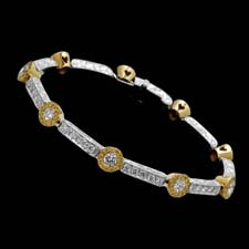 This stunning platinum and 18k yellow gold