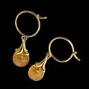 Paul Morelli's classic briolette earrings.  This set is 18kt gold with 7mm citrine.  Other colors are available and 5mm can also be ordered for the Citrine stone.