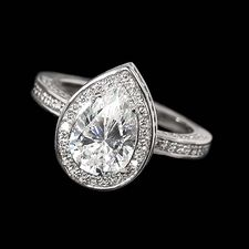 Alex Soldier Platinum & diamond engagement ring  pear shaped stone
