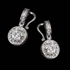 Alex Soldier Platinum or 18kt white gold diamond dangle earrings