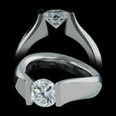 Steven Kretchmer high polished platinum Fancy Figure-8 engagement ring is as cutting edge as it is sophisticated. Priced to accommodate a round 0.50ct to 1.00ct center diamond. This ring is also available in 18 karat gold. Call for pricing for diamonds from 1.01 to 3.00 carats in size. The center diamond is not included in the pricing.