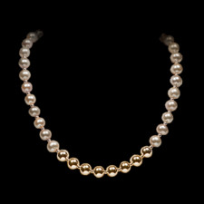 Robert Golden gold and pearl necklace