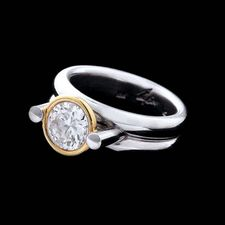 Whitney Boin platinum and 18kt gold ring