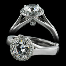 Bridget Durnell Providence Collection Solitaire, Diamond Frame