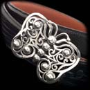 Item 07E7 - Kieselstein-Cord's wonderful butterfly buckle in sterling silver. The piece measures 2 1/2 inches by 2 inches.