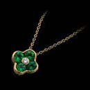 From Gumuchian's Fleur collection, a beautiful emerald pendant weighing .80ct.  A smaller version is available for $2,400.00.