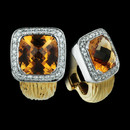 Spark's Facete collection. These 18K two tone earrings with 0.62 carats total weigh in diamonds and 7.59 carats total weight of citrine.