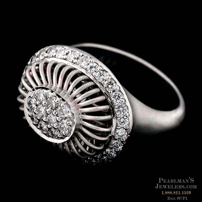 Michael b jewelry platinum oval ballerina ring for Michael b jewelry death
