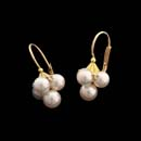 18kt. yellow gold  4-6mm pearls with diamond accents
