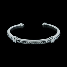 Scott Kay Sterling thin cuff weave bracelet
