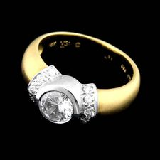 Chris Correia Chris Correia 18kt y.g. Platinum Diamond ring