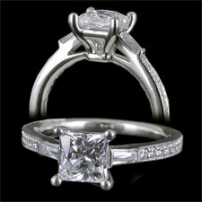 Harout R 18k gold princess cut engagement ring