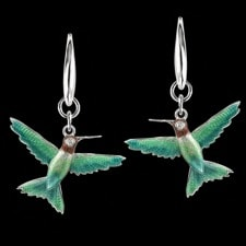 Nicole Barr Hummingbird diamond earrings