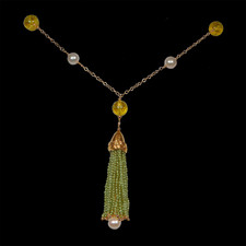 Robert Golden Peridot and pearl