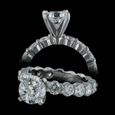 Memoire petite prong diamond eternity ring