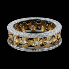Michael Beaudry 18K yellow gold wedding band