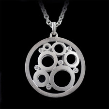 Bastian Inverun Sterling silver circles in a circle