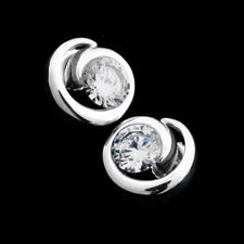 Diana Vincent's platinum swirl earrings.  This price is for the mounting only and can be made to hold .50ct diamonds and larger.  Classy earrings!