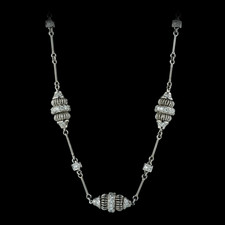 Beautiful Michael B platinum acorn necklace.  There are 3 sets of *acorns*  and 4 sugar cubes.  This necklace is made with 97 diamonds for a total of 1.07ctw.