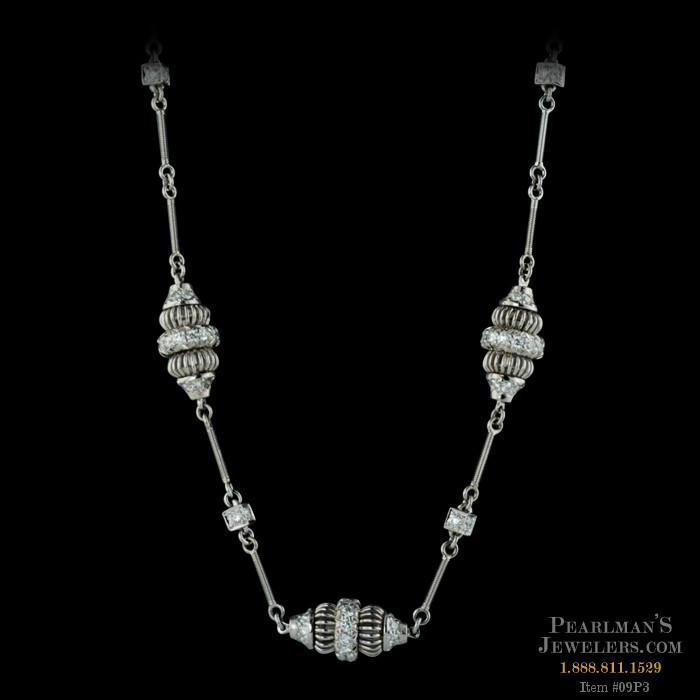 Beautiful michael b platinum acorn necklace there are 3 for Michael b s jewelry