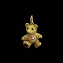 From the design studios of Robert Bruce Bielka is this 18kt. gold  moveable baby bears with blue sapphire eyes and paws, and diamond tummy is sure to please. These beautiful little bears are made in three sizes 3/8 inch (9.525mm), 7/8 inch (22.225mm), and 1 1/8inch (28.575mm). The price for the one quoted is the 7/8 inch (22.225mm) one. Most of our clients that have purchased in the past will all say ''they are the cutest little pieces we have ever seen''.  Small bear $1,495.00 Medium $$4,500.00 as pictured and large w/o diamonds $3,950.00. Made in the USA