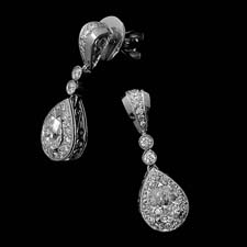 These beautiful and brilliant platinum and diamond earrings from Beaudry shine with .75ctw in pear-shaped diamonds and .33ctw in round brilliants. Call for price and availability.