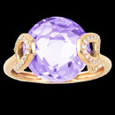 A gorgeous Bellarri 18K gold amethyst and diamond ring. The amethyst has a weight of 6.15ctw. The total diamond weight is 0.12. This ring is from the Visions collection of Bellarri.