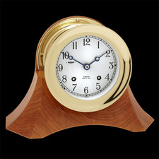 Chelsea Clocks Ships Bell Clock on Thos. Moser Cherry Wood Bas