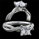 A beautiful 18 karat white gold princess cut diamond engagement ring by Harout R. The ring features a 1.00 carats diamond center. This ring is also available in princess cut diamonds from 0.75 carats and up. The additional diamonds weigh 0.22 carats in total. The ring measures 4.5mm in maximum width. The ring is also available in platinum. The pricing does not include the center diamond in pricing