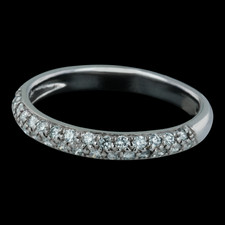 Spark 18k pave diamond wedding band