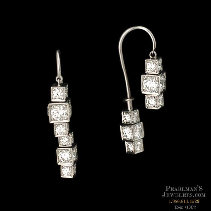 Michael b jewelry platinum large sugar cube earrings for Michael b s jewelry
