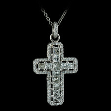 Michael B. Diamond cross necklace