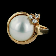 Pearl Collection Gold Mabe' Pearl and Diamond ring