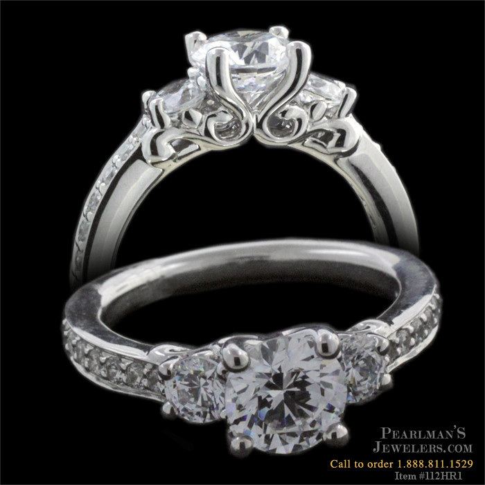 Harout R 18 Carat Gold Three Stone Engagement Ring
