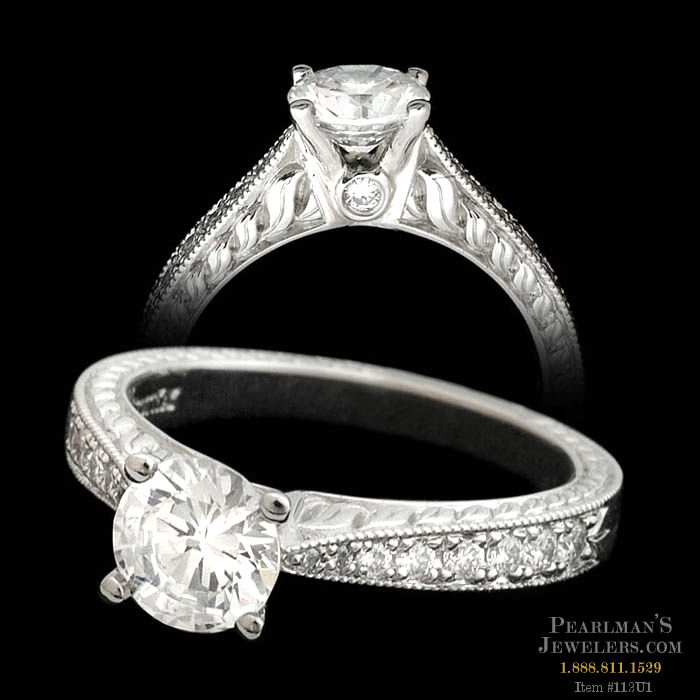 Scott Kay Palladium Engraved Three Sided Diamond Wedding: Scott Kay Jewelry Scott Kay Diamond Engagement Ring