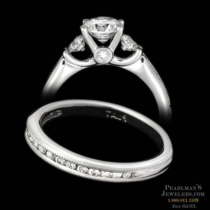 Scott Kay Platinum Engraved Five Diamond 0 30ctw Wedding: Scott Kay Scott Kay Platinum