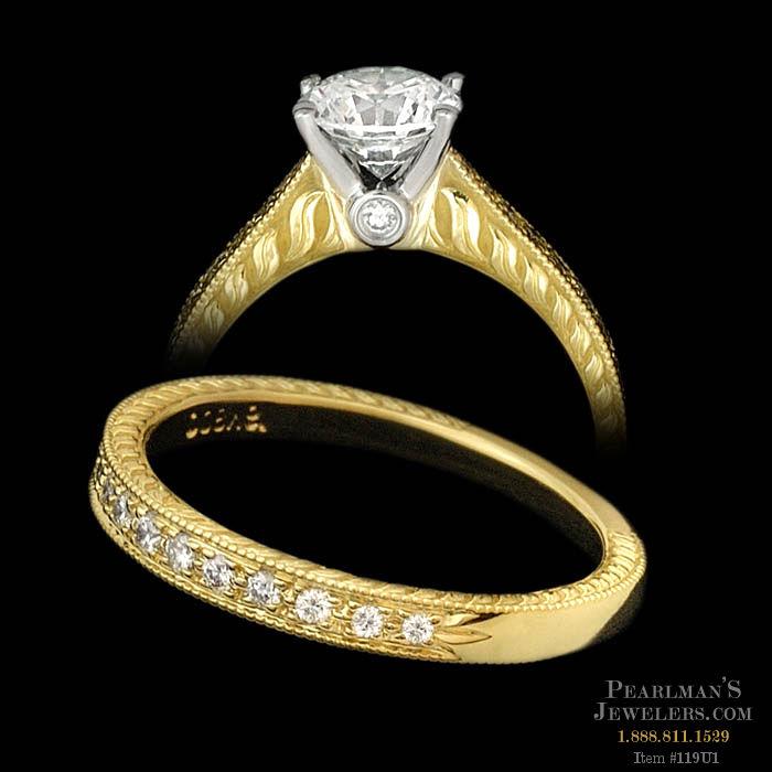 Scott Kay Platinum Engraved Five Diamond 0 30ctw Wedding: Scott Kay Jewelry Scott Kay 19 Karat Gold & Platinum