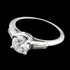 This adorable Sasha Primak platinum and diamond engagement ring with .40ctw in side stones. Ready for any center stone you desire.