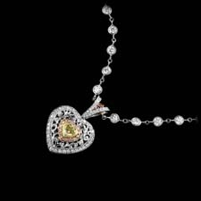 Michael Beaudry Yellow and pink diamond necklace