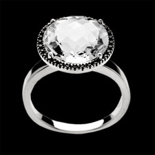 Bastian Inverun Sterling silver rock crystal ring