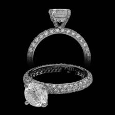 Pearlman's Bridal Platinum pave diamond engagement ring