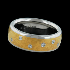 Closeout Jewelry Kretchmer Platinum and 24k yellow gold Star band