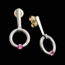 A beautiful set of Kretchmer Gothic Jiggly earrings. Made in platinum and set with 3.0mm pink sapphires. Available in blue sapphire, ruby, and diamond.