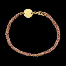 Peter Storm yellow gold silver silk bracelet