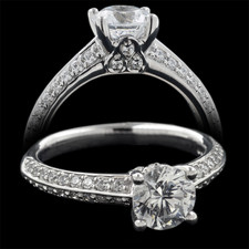 Harout R 18k side diamond engagement ring