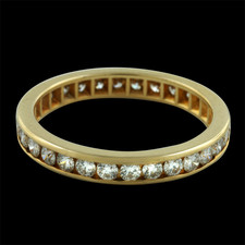 Pearlman's Bridal channel set eternity band